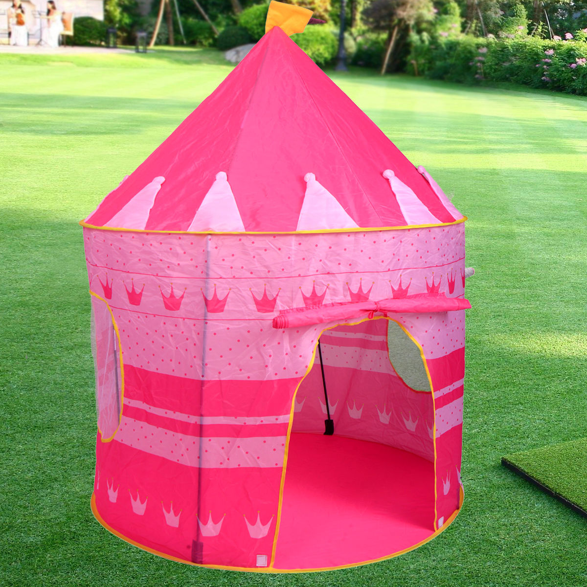 Portable Pop Up Play Tent Kids Girl Princess Castle Outdoor Play House Pink & Portable Pop Up Play Tent Kids Girl Princess Castle Outdoor Play ...