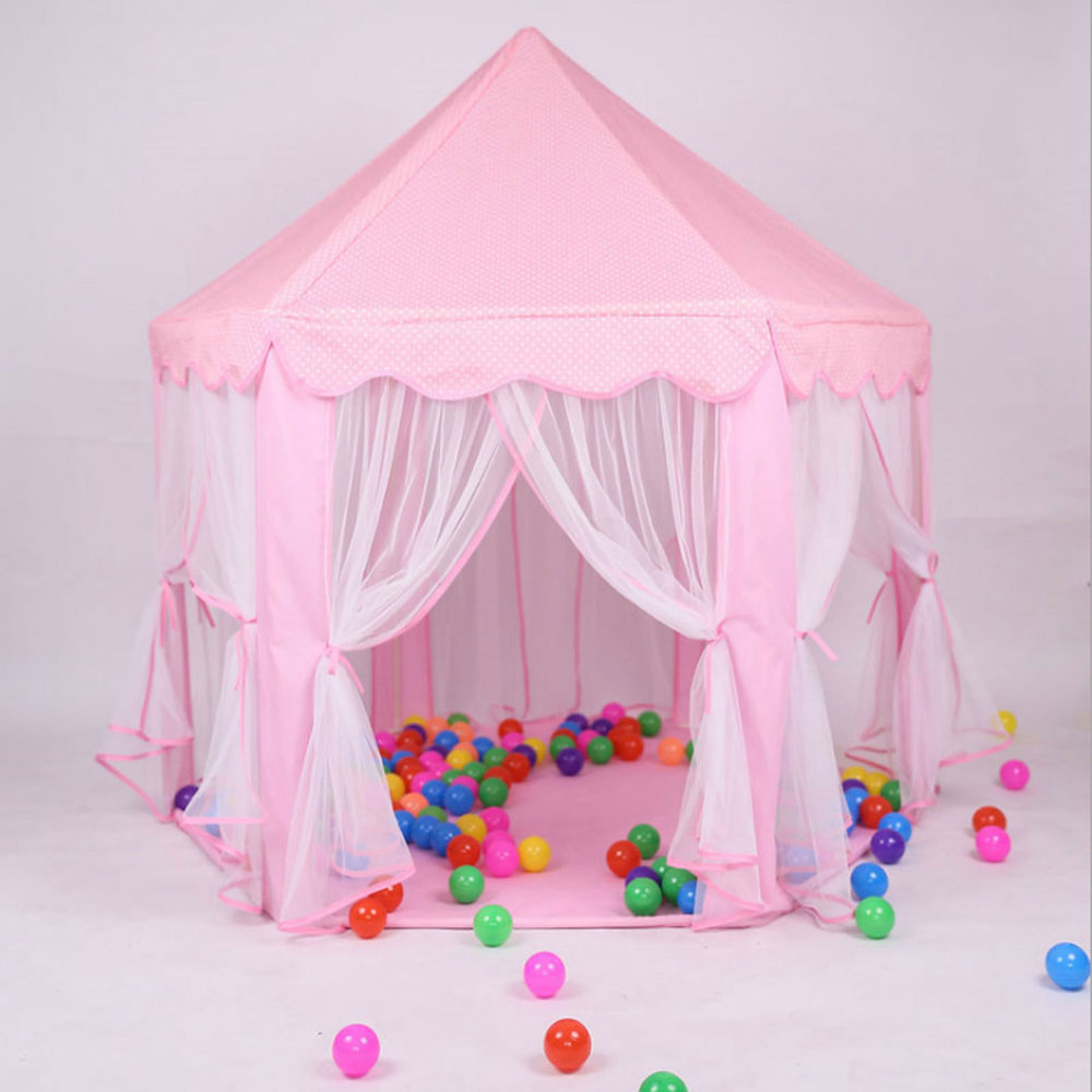 portable pop up play tent kids girl princess castle. Black Bedroom Furniture Sets. Home Design Ideas